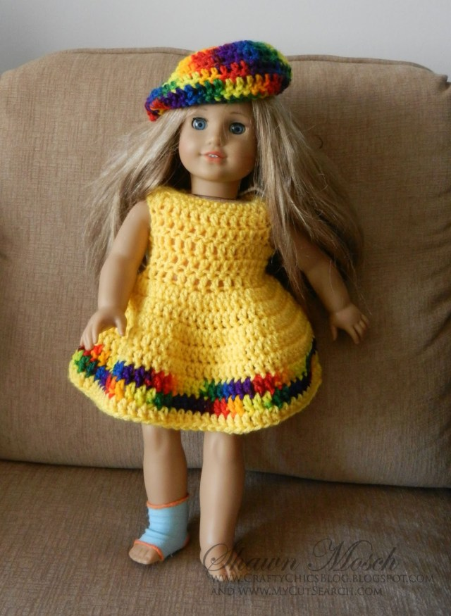 Crochet Doll Clothes Patterns Crafty Chics American Girl Doll Dress