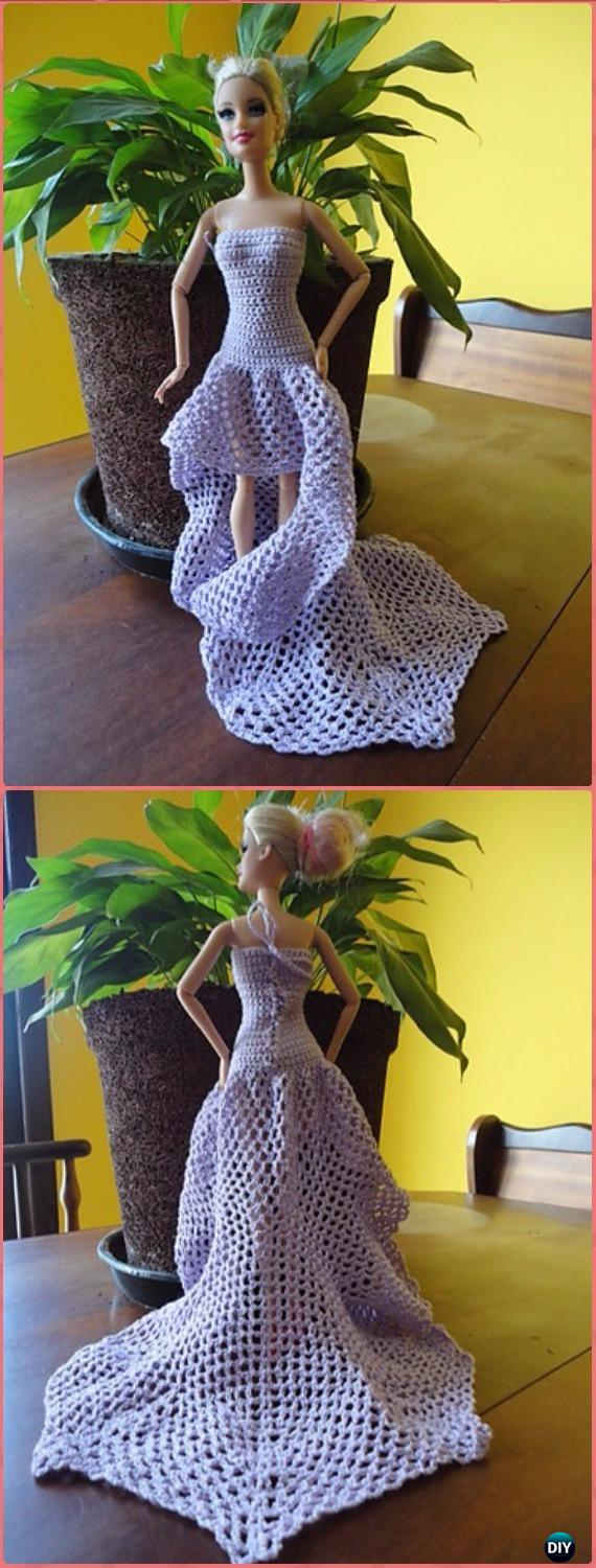 Crochet Doll Clothes Patterns Crochet Barbie Fashion Doll Clothes Outfits Free Patterns