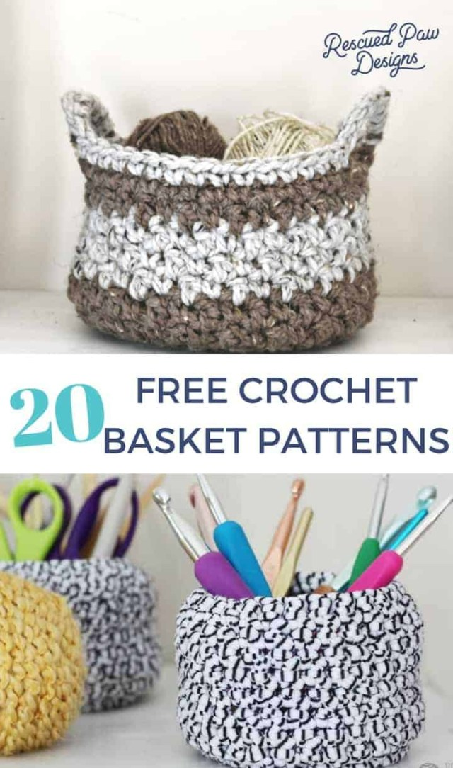Crochet For Beginners Patterns Free 20 Free Crochet Basket Patterns How To Crochet 20 Basket Tutorials