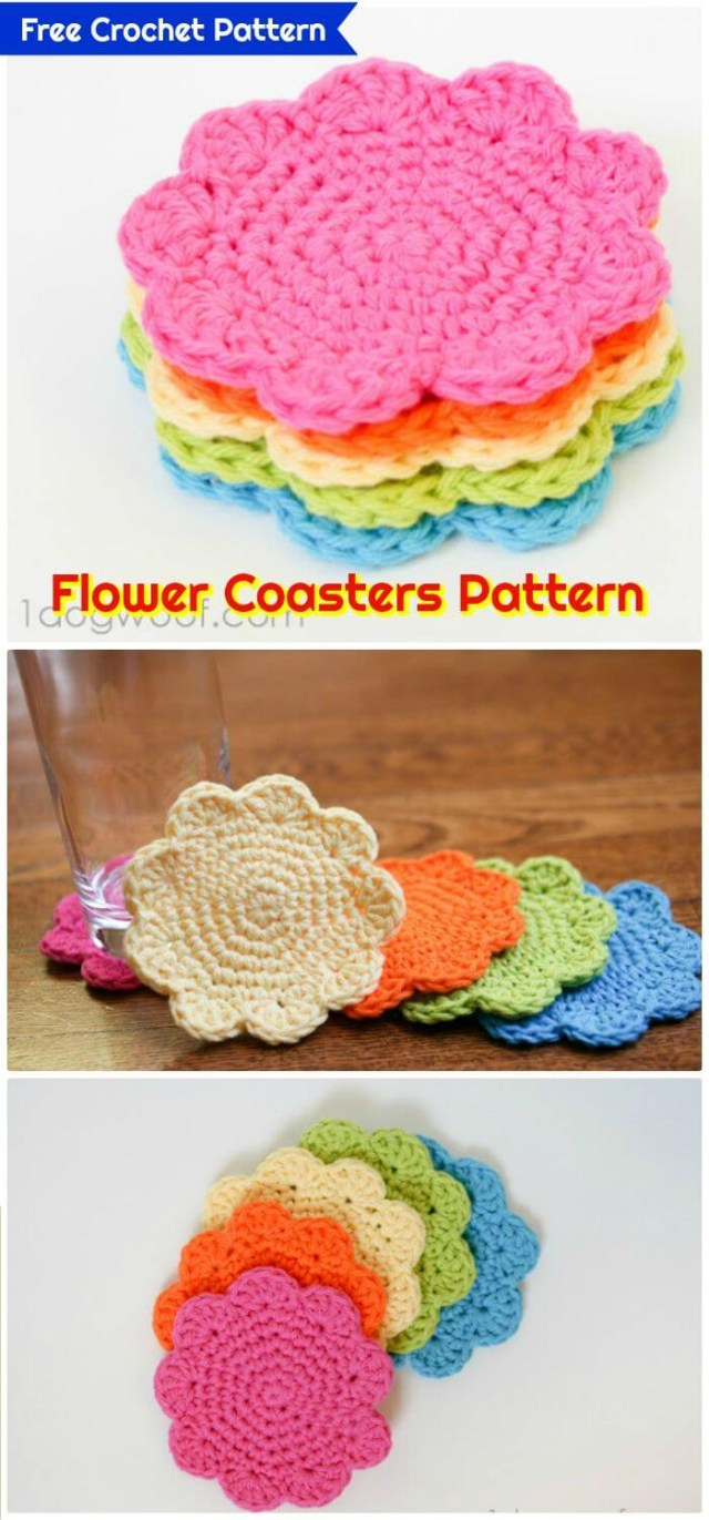 Crochet For Beginners Patterns Free 70 Easy Free Crochet Coaster Patterns For Beginners Diy Crafts