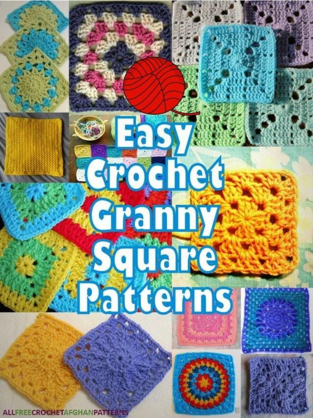 Crochet Granny Square Pattern 46 Easy Crochet Granny Square Patterns Crochet Blocks Pinterest