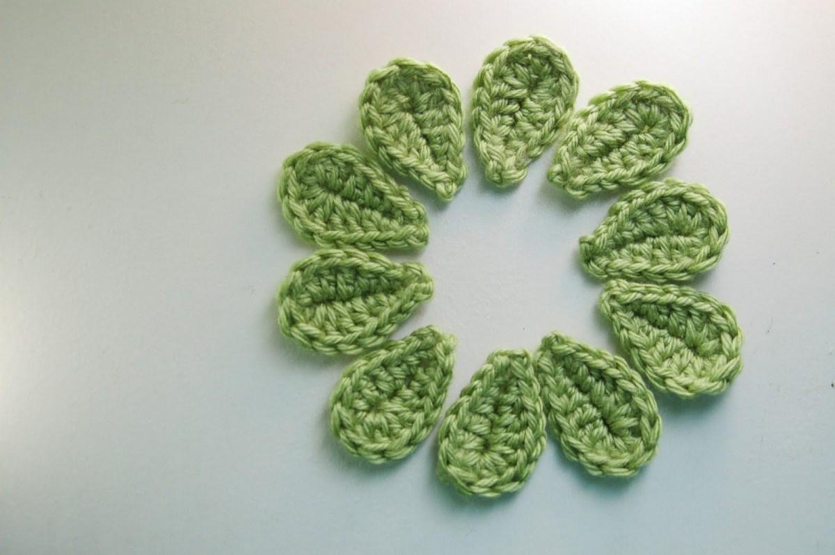 Crochet Leaf Pattern Video 2 Minute Crochet Leaf Free Pattern Crochet Love Crochet Leaf