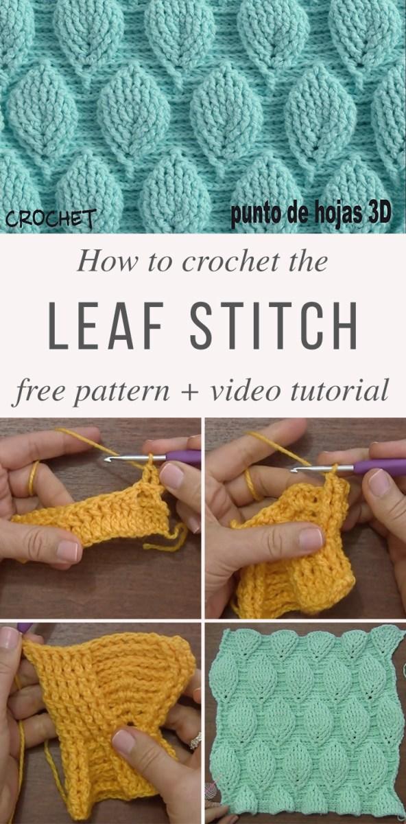 Crochet Leaf Pattern Video Leaf Stitch Crochet Pattern Tutorial Crochetbeja