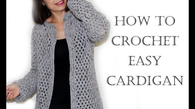 Crochet Long Cardigan Pattern Crochet Easy Cardigansweater Youtube