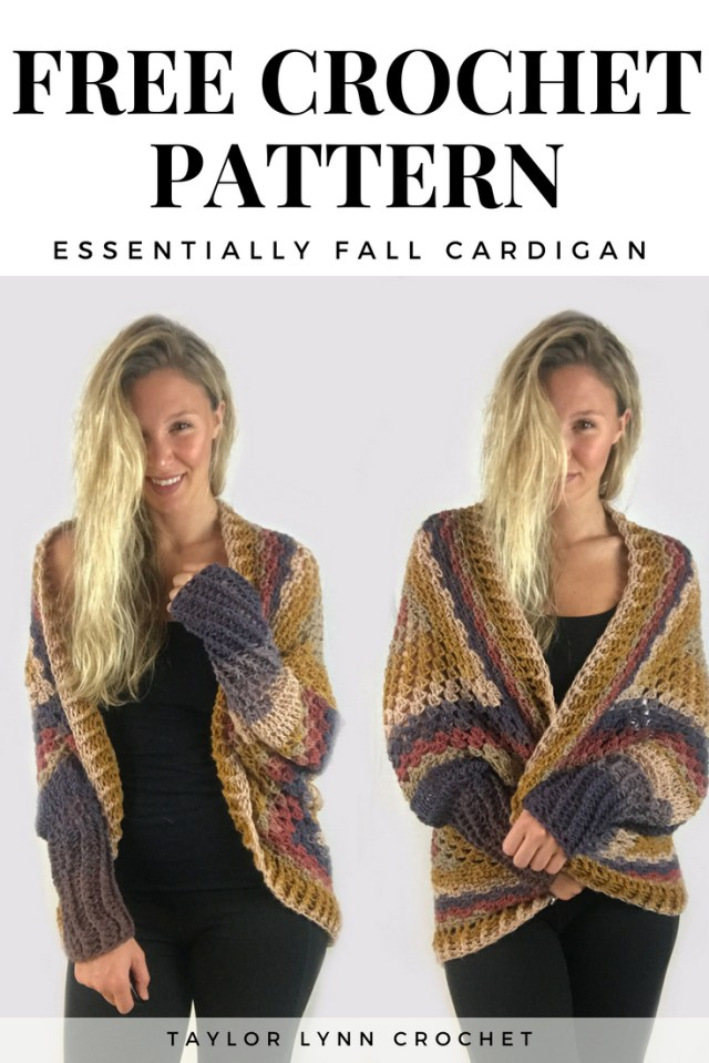 Crochet Long Cardigan Pattern Essentially Fall Crochet Cardigan Pattern