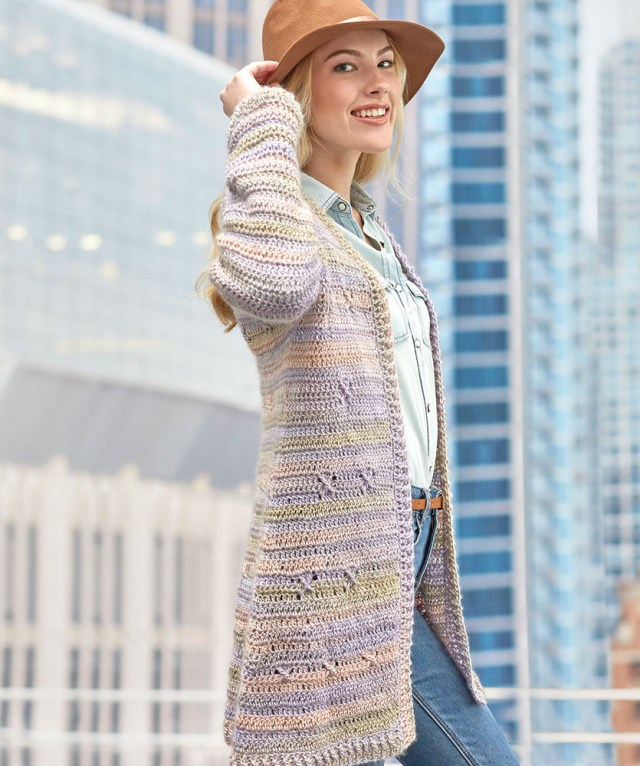 Crochet Long Cardigan Pattern Free Crochet Pattern For A Around Town Cardigan Crochet Kingdom