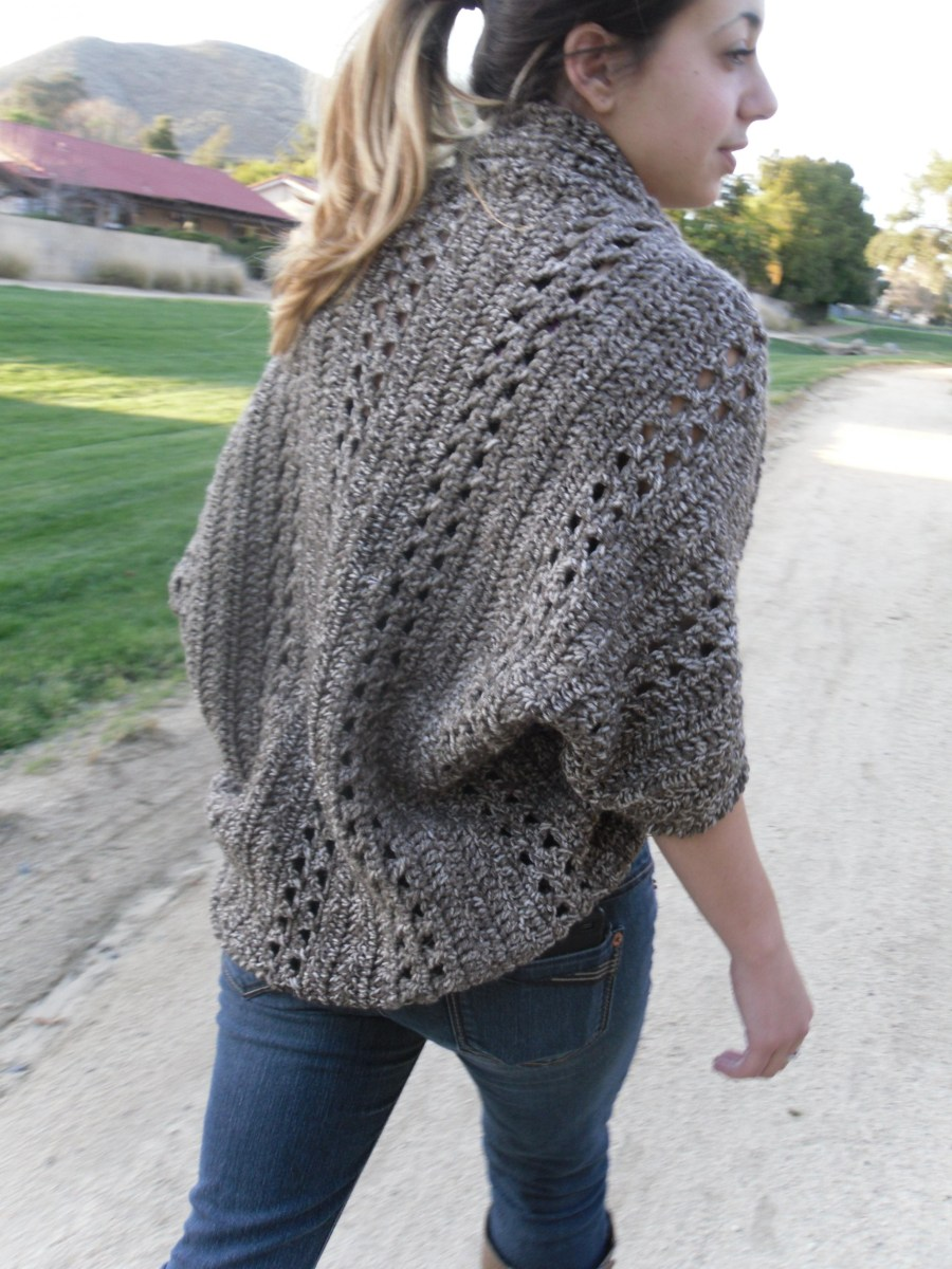 Crochet Long Cardigan Pattern Shrug Cardigan Shawl Wsleeves Easybeginner Crochet Pdf