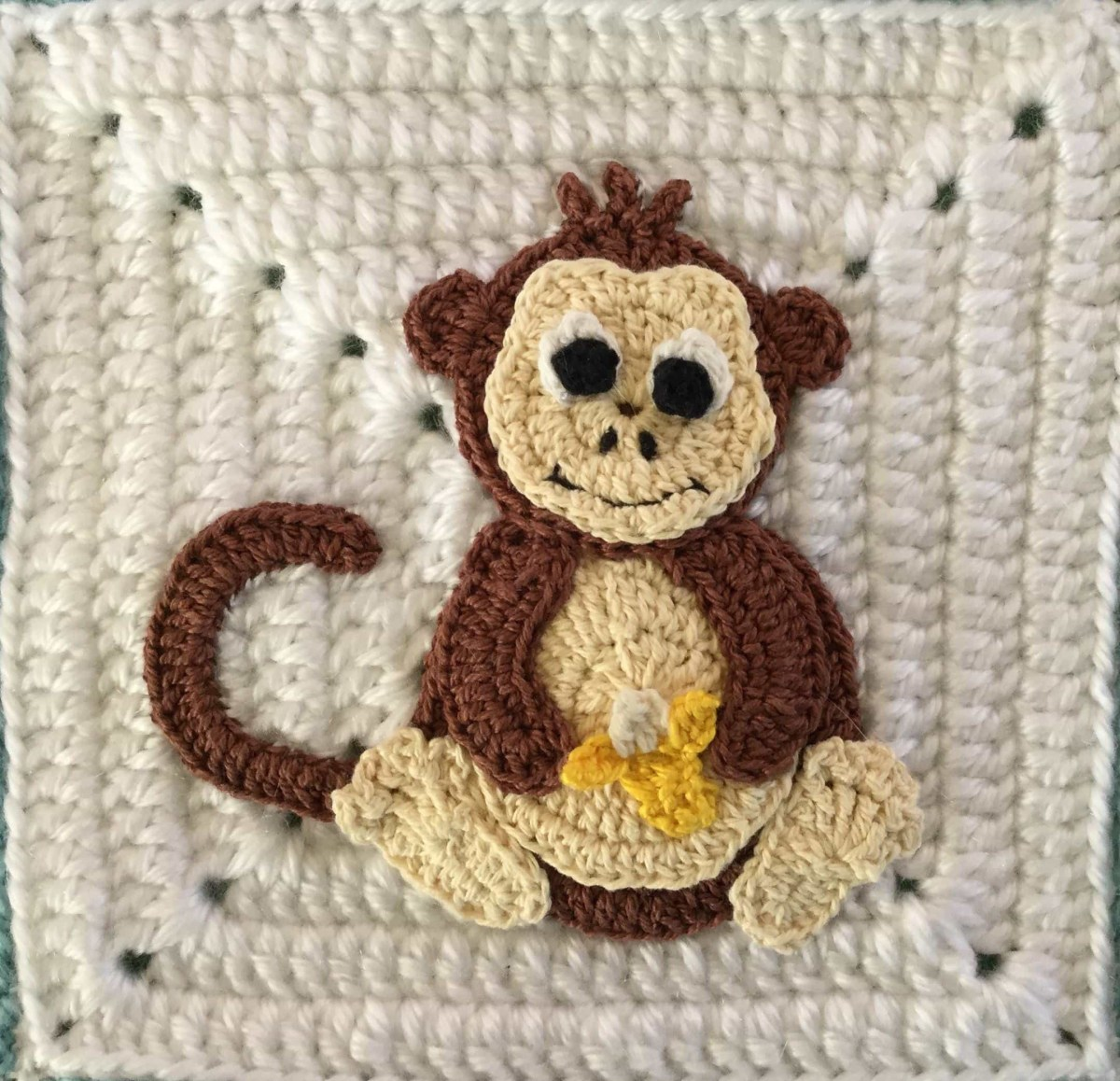 Crochet Monkey Blanket Pattern Crochet Edging For Ba Blanket Monkey Square Kerris Crochet