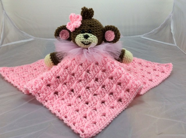 Crochet Monkey Blanket Pattern Monkey Lovey Or Security Blanket Pdf Crochet Pattern Etsy
