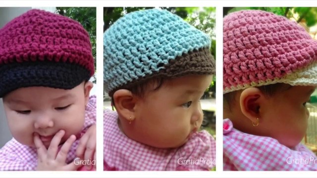 Crochet Newborn Newsboy Hat Pattern Free Ba Baseball Hat Crochet Tutorial Youtube