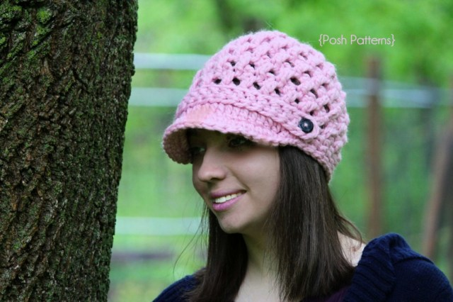 Crochet Newborn Newsboy Hat Pattern Free Newsboy Hat Crochet Pattern Cross Stitch Visor Hat