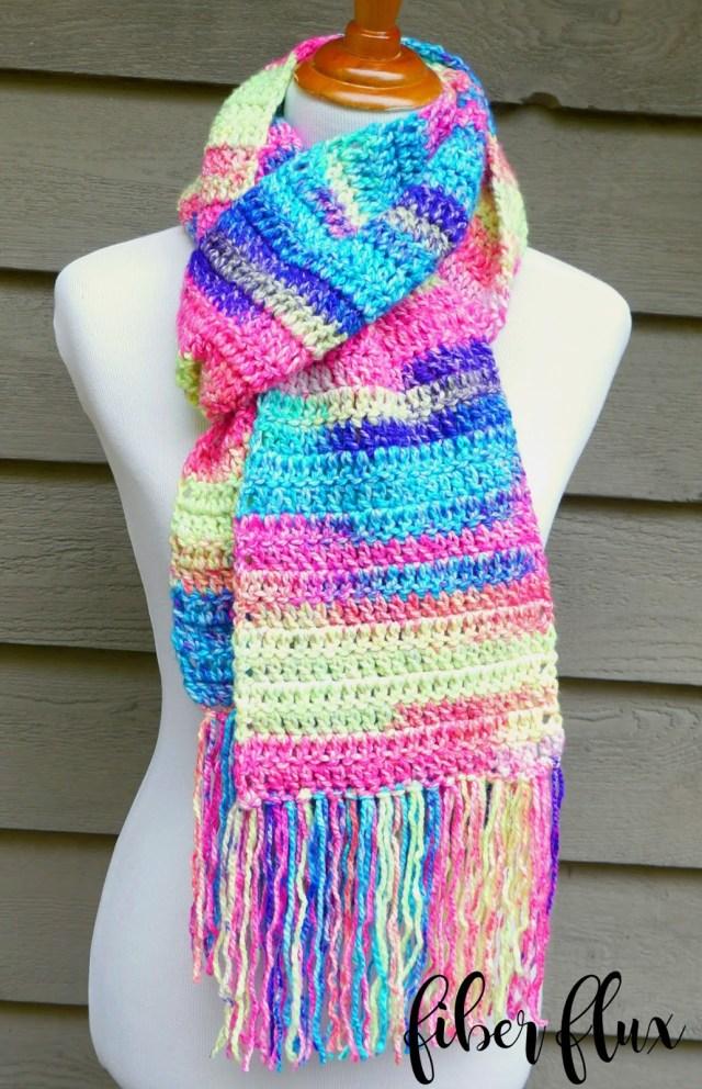 Crochet Pattern Scarf Fiber Flux Free Crochet Patternabsolute Beginner Crochet Scarf