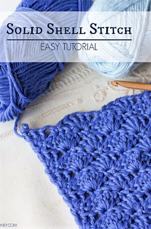 Crochet Shell Pattern Scarf How To Crochet The Solid Shell Stitch Easy Tutorial Crochet