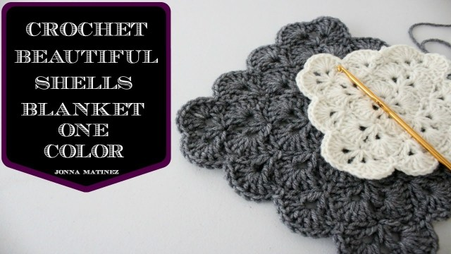 Crochet Shell Stitch Pattern How To Crochet A Beautiful Shells Blanket In One Color Youtube