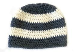 Crochet Striped Beanie Pattern Chunky Stripe Crochet Hat Free Crochet Pattern