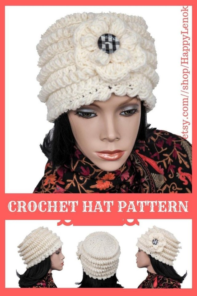 Easy Crochet Slouchy Hat Pattern Easy Crochet Slouchy Hat Pdf Beanie Pattern 1920s Cloche Etsy