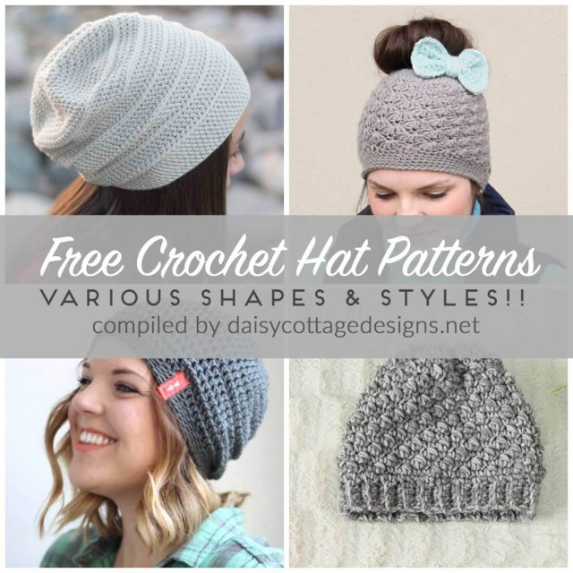 Easy Crochet Slouchy Hat Pattern Free Crochet Hat Patterns Daisy Cottage Designs