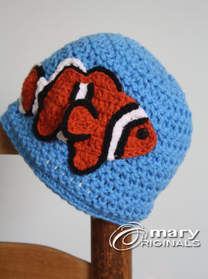 c4938f606be Fish Hat Crochet Pattern Clown Fish Hat Crochet Beanie Childrens Clothing  Etsy