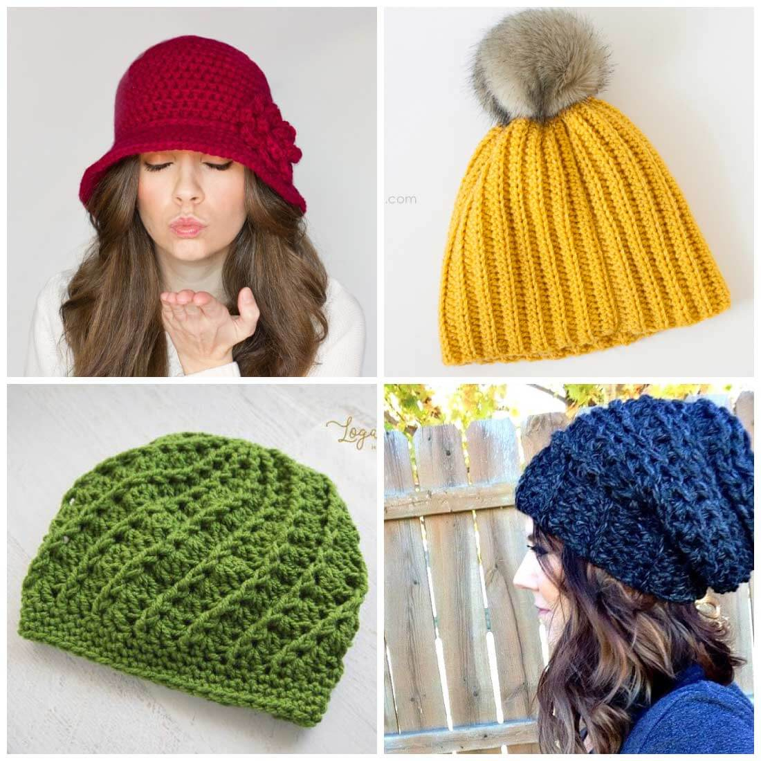 Free Crochet Hat Patterns For Adults Free Crochet Hat Patterns Daisy Cottage Designs