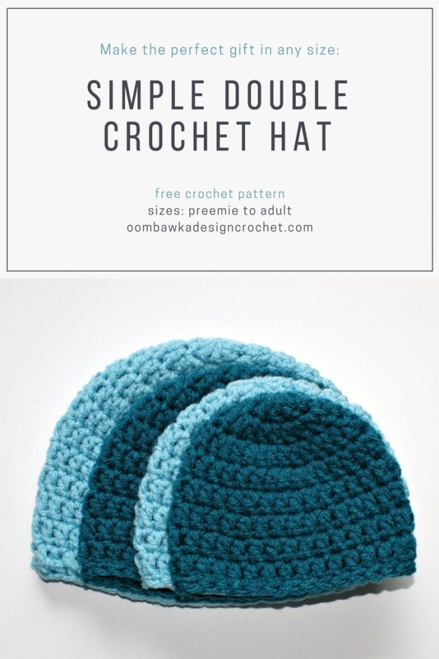 Free Crochet Hat Patterns For Adults Simple Double Crochet Hat Pattern Oombawka Design Crochet