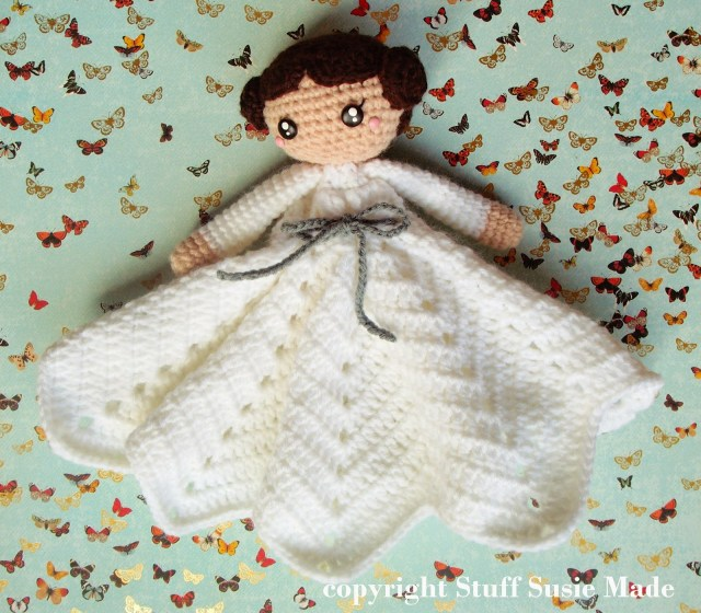 Free Crochet Lovey Pattern Stuff Susie Made Princess Leia Blankie Free Crochet Pattern And