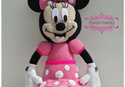 Free Crochet Minnie Mouse Doll Pattern Minnie Mouse Free Crochet Pattern Free Crochet Patterns Crochet