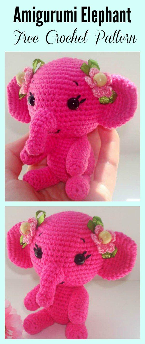 Free Crochet Pattern Elephant Amigurumi Elephant Free Crochet Pattern Cool Creativities