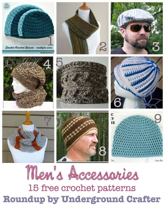 Free Crochet Patterns For Men 15 Free Crochet Patterns For Mens Accessories Underground Crafter