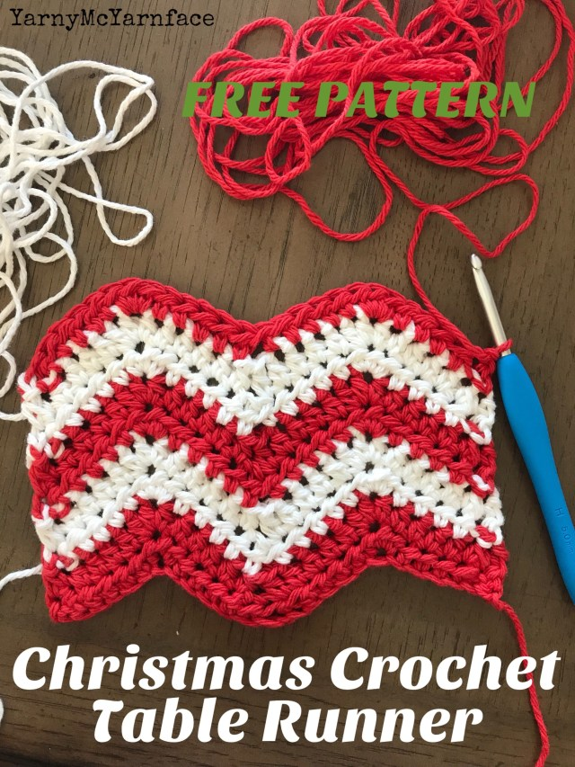 Free Crochet Table Runner Patterns Cute And Free Crochet Pattern A Chevron Christmas Table Runner