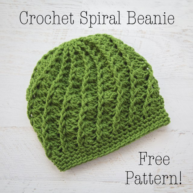 Free Hat Crochet Patterns Crochet Spiral Beanie Free Crochet Pattern Loganberry Handmade
