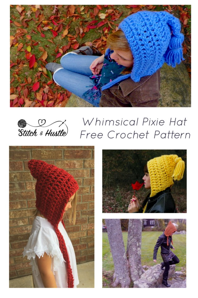 Free Hat Crochet Patterns Get Your Whimsy On Free Pixie Hat Crochet Pattern Stitch Hustle
