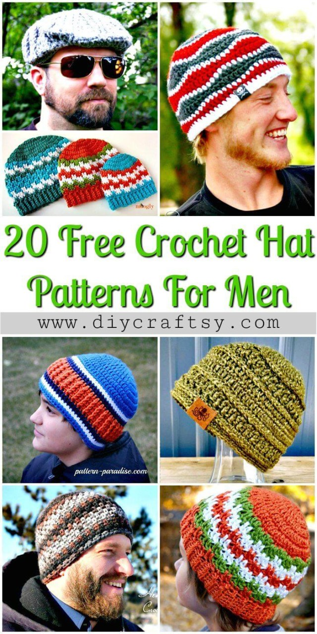 Free Mens Crochet Hat Patterns 20 Free Crochet Hat Patterns That Adorable For Mens Diy Crafts