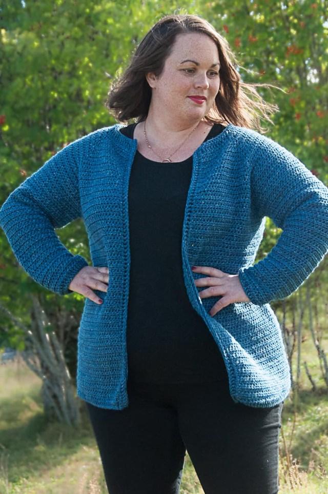 Lionbrand Com Free Crochet Patterns Classic Raglan Cardigan Crochet Pattern Joy Of Motion