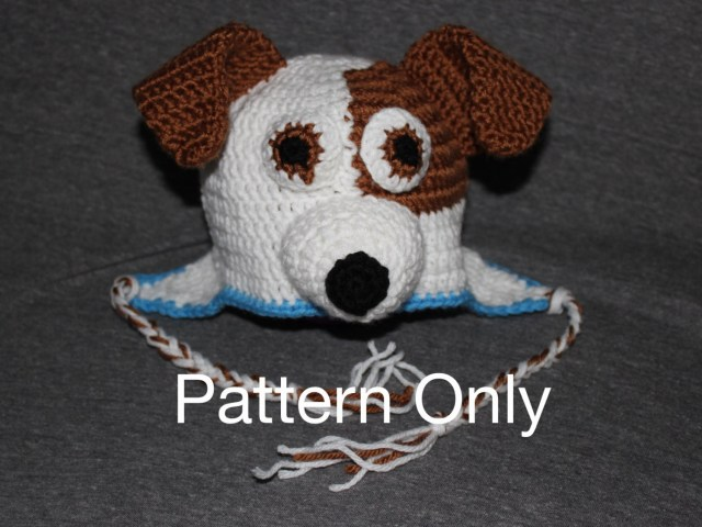 Puppy Dog Crochet Hat Pattern Dogpuppy Terrier Mix Crocheted Hat Pattern Only Jack Russel Etsy
