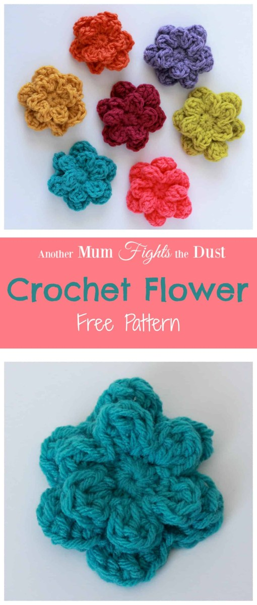 Simple Crochet Rose Pattern Crochet Flower Pattern Another Mum Fights The Dust