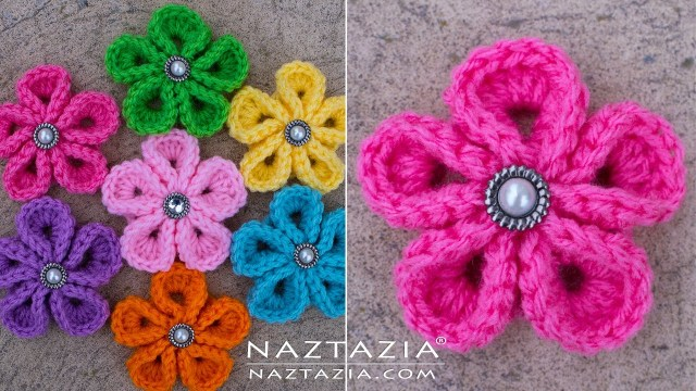 Simple Crochet Rose Pattern Diy Tutorial How To Crochet Kanzashi Flower Flowers Of Japan
