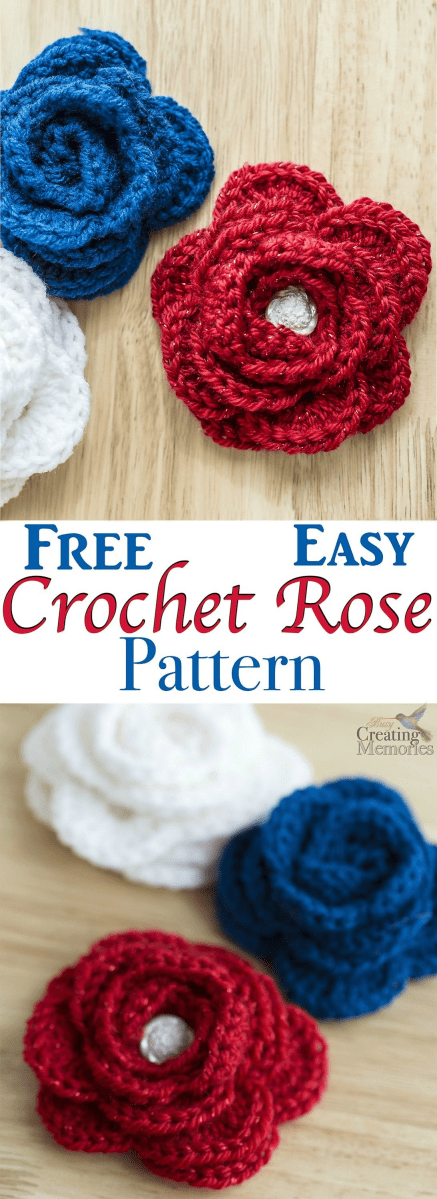Simple Crochet Rose Pattern Free Easy Crochet Rose Pattern Crochet Ideas And Inspiration