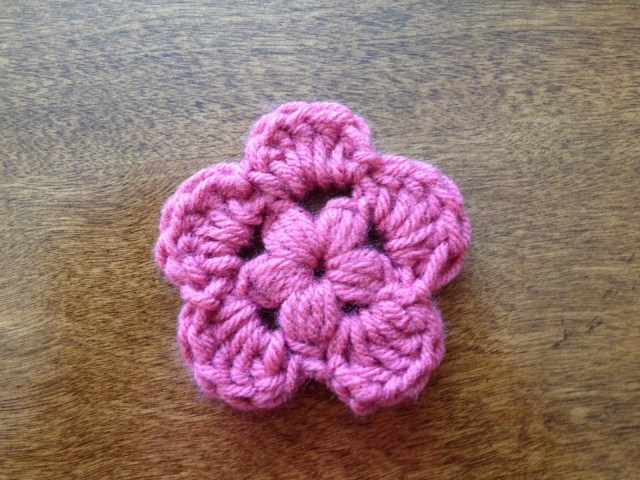 Simple Crochet Rose Pattern Spool Of Sunshine Simple Puff Stitch Flower