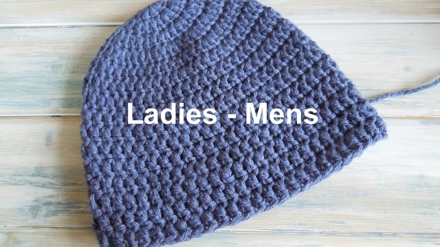 Single Crochet Hat Pattern Crochet How To Crochet A Simple Beanie For Ladies Mens Size 22