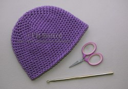 Single Crochet Hat Pattern Crochet Treasures Basic Beanie Single Crochet