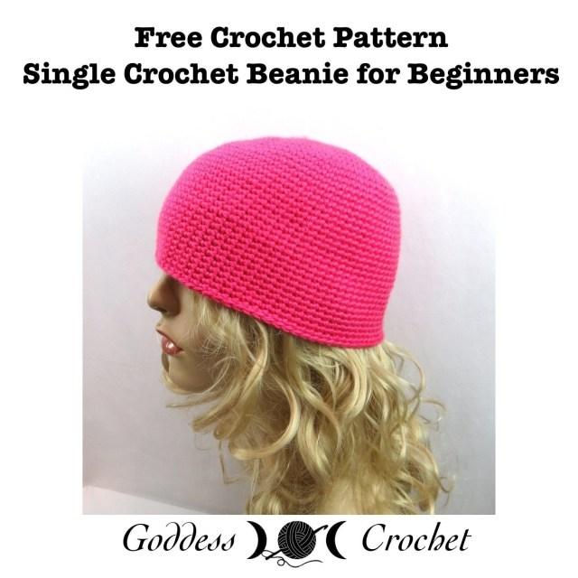 Single Crochet Hat Pattern Single Crochet Beanie For Beginners How To Make A Hat Yarncraft