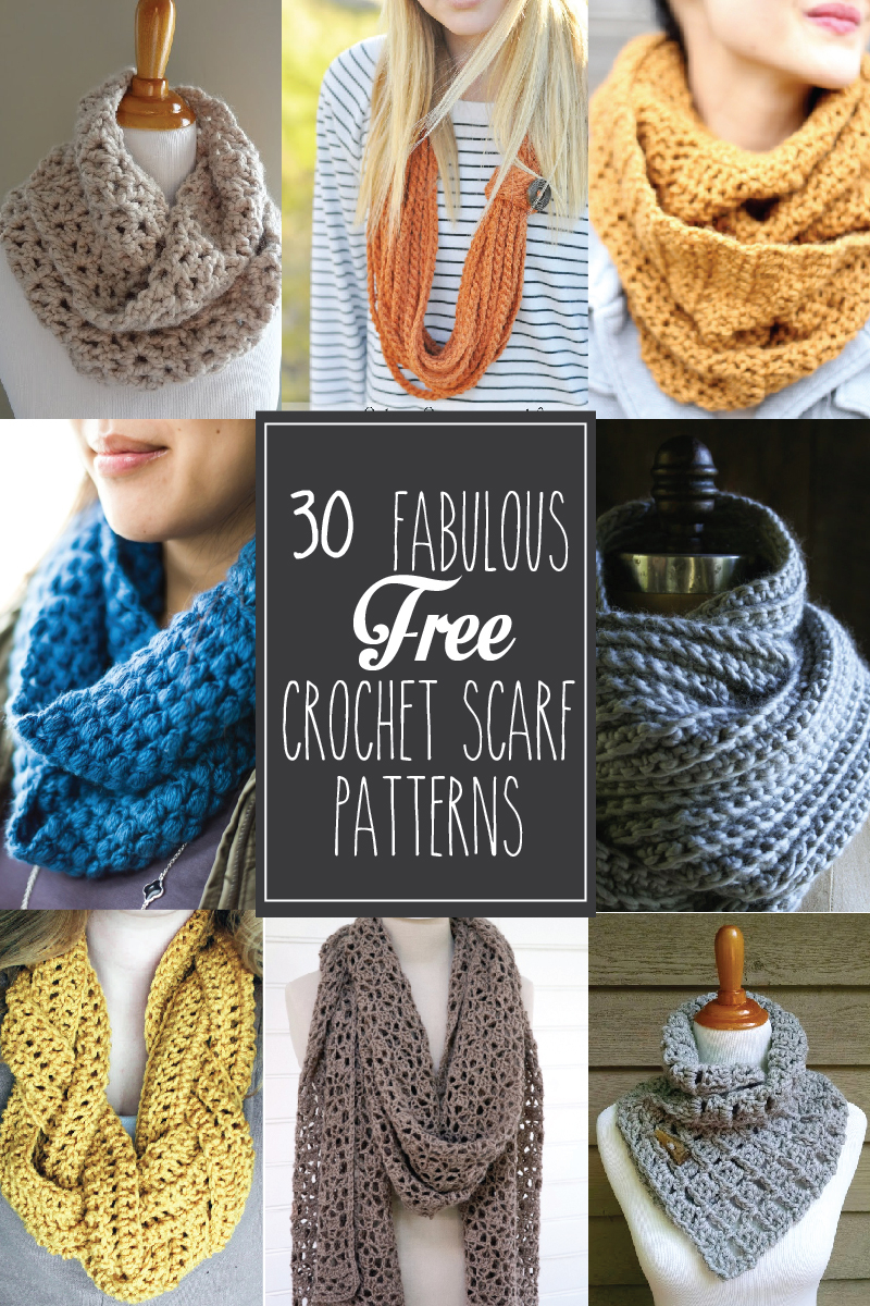 Snood Scarf Crochet Pattern 30 Fabulous And Free Crochet Scarf Patterns