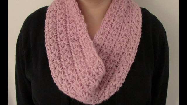 Snood Scarf Crochet Pattern Very Easy Chunky Crochet Star Stitch Cowl Scarf Snood Infinity