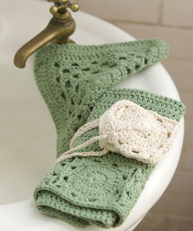 Soap Bag Crochet Pattern Spa Necessities Washcloth Measures 8 X 8 Exfoliatorscrubber