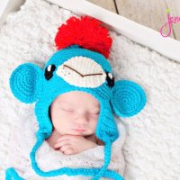 Not Another Sock Monkey Hat by Jenny and Teddy