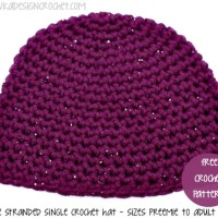 Double Stranded Single Crochet Hat ~ Oombawka Design