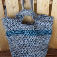 Japanese Knot Plarn Tote Bag ~ My Recycled Bags