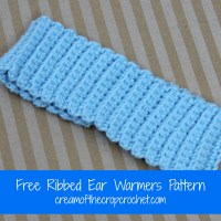 Ribbed Ear Warmers ~ Cream Of The Crop Crochet
