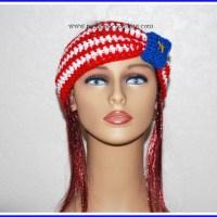 American Flag Headband Ear Warmer ~ Sara Sach - Posh Pooch Designs