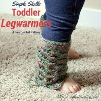 Simple Shells Toddler Leg Warmers ~ Chaleur Life - My Hobby is Crochet